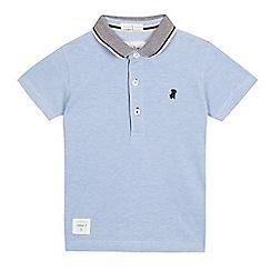 J by Jasper Conran - Boys' pale blue pique polo shirt