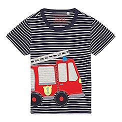 bluezoo - Boys' blue applique truck t-shirt