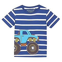 bluezoo - Boys' blue monster truck applique t-shirt