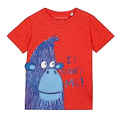 bluezoo - Boys' red gorilla applique t-shirt
