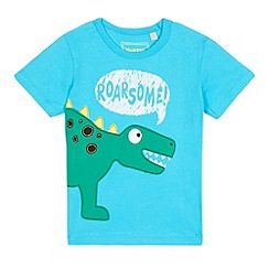 bluezoo - Boys' blue 'Roarsome' applique t-shirt