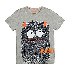 bluezoo - Boys' grey monster print t-shirt