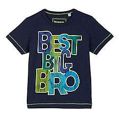 bluezoo - Boys' navy 'Best bro ever' print t-shirt