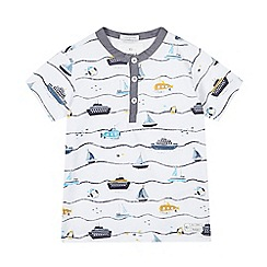 J by Jasper Conran - Boys' white striped boat print top