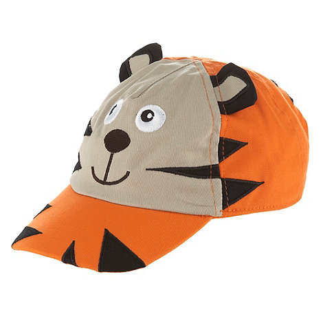 bluezoo - Boy+s orange appliqued tiger cap