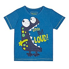 bluezoo - Boys' blue 'Little but loud' print t-shirt