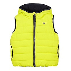 bluezoo - Boys' lime hooded gilet