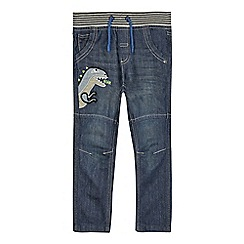 bluezoo - Navy dinosaur applique jeans