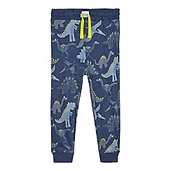 bluezoo - Boys' navy dinosaur print joggings bottoms