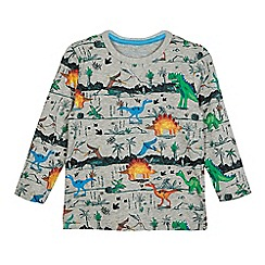 bluezoo - Boys' grey dinosaur print top
