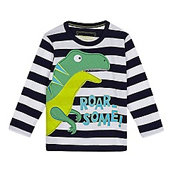 bluezoo - Boys' navy dinosaur applique top