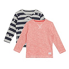 bluezoo - Pack of two boys' grey monster print tops