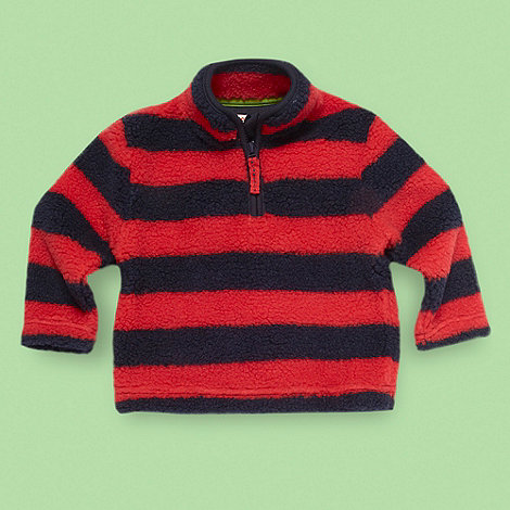 bluezoo - Boy+s navy striped fleece pull over