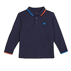 bluezoo - Boys' navy long sleeved polo shirt