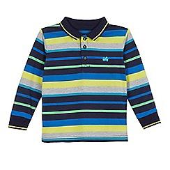 bluezoo - Boys' blue striped polo shirt