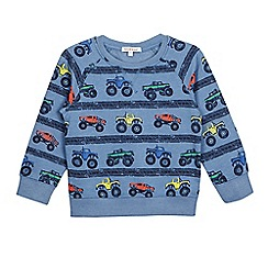bluezoo - Boys' blue truck print sweater
