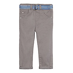 bluezoo - Boys' grey belted chinos