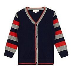bluezoo - Boys' navy striped sleeved cardigan