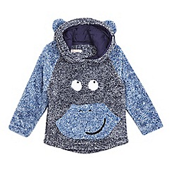 bluezoo - Boys' blue monkey applique fleece sweater
