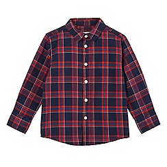 bluezoo - Boys' red checked long sleeve shirt