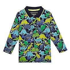 bluezoo - Boys' blue dinosaur print polo shirt