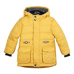 bluezoo - Boys' yellow mock insert coat