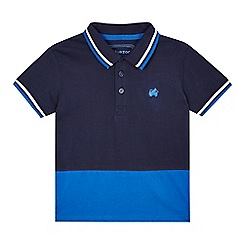 bluezoo - Boys' navy colour block polo shirt