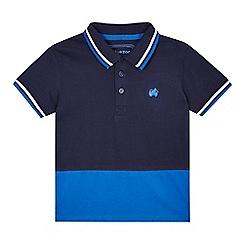 bluezoo - Boys' navy colour block polo shirt