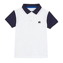 bluezoo - Boys' white truck applique polo shirt