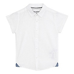 bluezoo - Boys' white short sleeved linen shirt