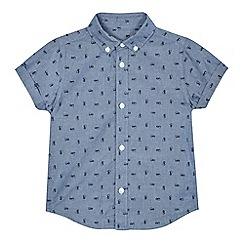 bluezoo - Boys' blue car print short sleeve shirt