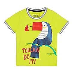 bluezoo - Boys' yellow toucan applique t-shirt