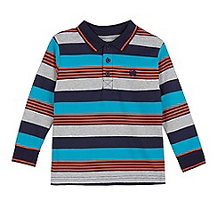 bluezoo - Boys' blue striped polo shirt
