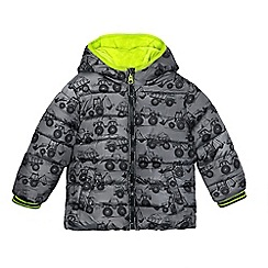 bluezoo - Boys' grey truck print coat