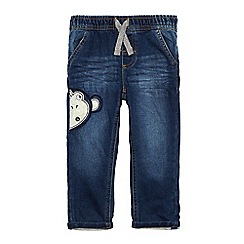 bluezoo - Boys' blue monkey applique jeans