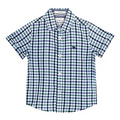 J by Jasper Conran - Boys' blue and green checked print shirt