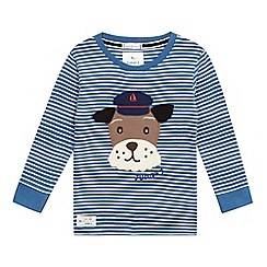 J by Jasper Conran - Boys  blue striped dog top
