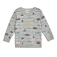J by Jasper Conran - Boys' grey boat print jumper