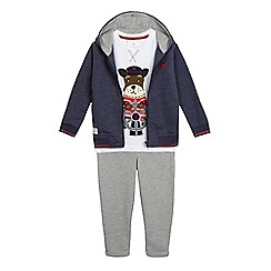 J by Jasper Conran - Boys' blue hoodie, t-shirt and jogging bottoms set