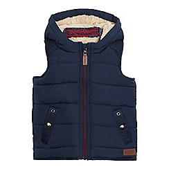 J by Jasper Conran - Boys' navy sherpa lined hooded gilet