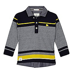 J by Jasper Conran - Boys' navy striped polo shirt