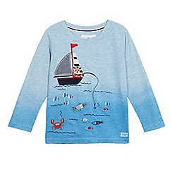 J by Jasper Conran - Boys' blue dog in boat embroidered t-shirt