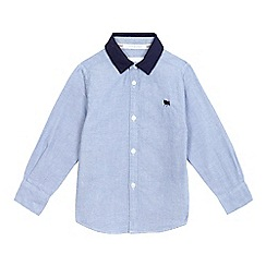 J by Jasper Conran - Boys' light blue textured twill collar shirt