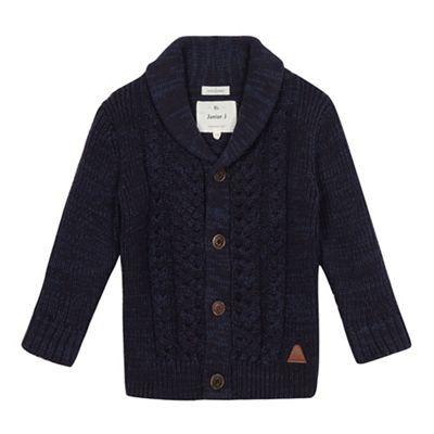 J by Jasper Conran Boys navy cable knit cardigan - . -