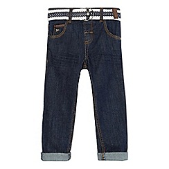 J by Jasper Conran - Boys' blue dark wash belted jeans