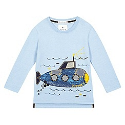J by Jasper Conran - Boys' blue submarine print t-shirt