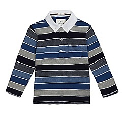 J by Jasper Conran - Boys' blue block striped polo shirt