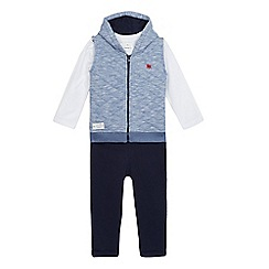 J by Jasper Conran - Boys' blue boat print three piece set