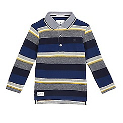 J by Jasper Conran - Boys' dark blue textured polo shirt