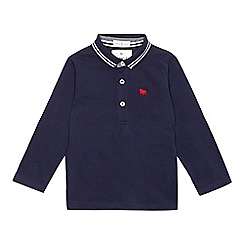 J by Jasper Conran - Boys' navy long sleeve polo shirt